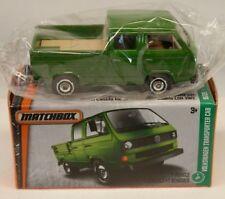 Matchbox Volkswagen Crew Cab Transporter Pickup Type 2 T2 Green IN SEALED BOX