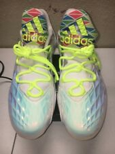 ADIDAS CRAZYQUICK LOW WHITE NEON FOOTBALL LACROSSE CLEATS S85742 MEN'S 12
