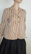 Marni Sz 44 Striped Cotton Jacket In Ex Condition