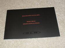 Mercedes Mclaren SLR Specification & Price Brochure 2004