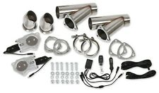Hooker 11052HKR 3IN Electric Exhaust recortes de doble