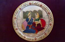 Hand Painted Marble Plate, Hand Made in India  Great wedding gift!