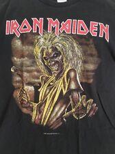 IRON MAIDEN Vintage T Shirt NON Tour Concert 2003 Promo KILLERS Sz M Nice Fade