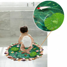 3D floor decoration Lotus Pond DIY wall  Stickers  Removable   Mural Decals Viny