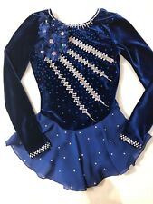 Gk Girls Custom Crystallization Ice Figure Skating Dress  Adult Xs  Girls 12-14