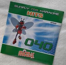 Karaoke cd+g disc Sunfly Hits Vol 40, see Descript 15 tracks/artists