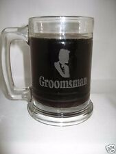4 Personalized glass beer mugs Groomsmen gift/ sports/ etched