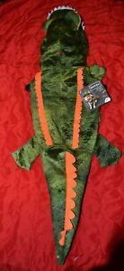 Alligator Dog Costume Plush Scale Textured Green - Sizes: XS,S,M,L,XL,XXL