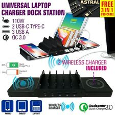 CHARGER UNIVERSAL PHONE TABLET LAPTOP APPLE ANDROID FAST CHARGE WIRELESS CHARGE