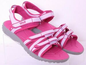 NEW Teva 1019395Y Pink Adjustable Straps Hiking Sport Sandals Youth Girls US 5