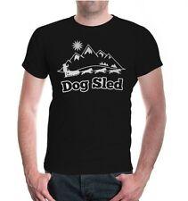 Señores unisex manga corta t-shirt Dog Sled-Signet trineo trineo de perros carrera