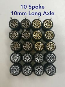 ⭐🔴(PROMO) HOT WHEELS REAL RIDERS RUBBER WHEELS 10MM 10 SETS 3 COLOUR