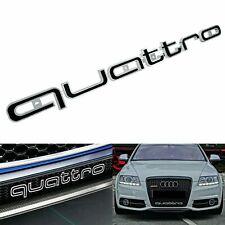 Audi QUATTRO Grill Badge Logo Emblem A3 A4 A5 A7 RS4 RS5 RS6 RS7 S3 Q5 Q7 Black