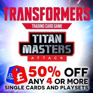 TRANSFORMERS TCG - WAVE 5 BATTLE CARDS - TITAN MASTERS ATTACK - BRAND NEW
