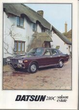 Nissan Datsun 280C Cedric Saloon Estate 1978-80 Original UK Sales Brochure