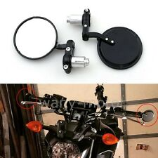 """Motorcycle 7/8"""" 22MM Handle Bar End Rearview Mirrors For Cafe Racer Sports Bike"""