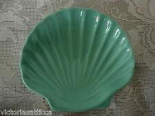 Collectible Sage Green / Aqua Ceramic Shell Shaped Soap Dish