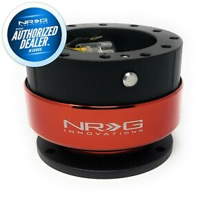 RARE NRG QUICK RELEASE GEN 2.0 BLACK BODY - RED RING + HARDWARE SRK-200BK-RD