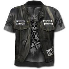 Men Funny 3D Print Tuxedo T Shirt Pirate Vintage Tee Vampire Gothic Casual Skull