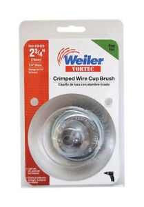 Weiler  2-3/4 in. Dia. x 1/4 in.  Vortec  Steel  Fine  Crimped Wire Cup Brush