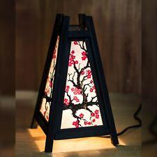 Asia/tailandés Madera/Papel Lámpara de mesita de noche japonés Plum Blossom Sakura + Bombilla LED