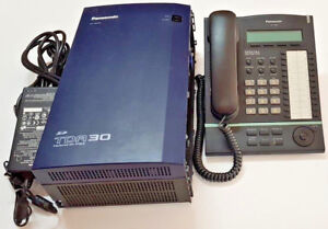 Panasonic TDA30 w 4x T7630AL-B h/sets, NBN compatible, GST inc,12 months w/ty