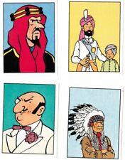 Herge Tintin Panini 1989 autocollant 4 im 13 14 15 16