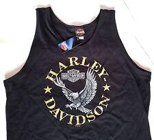 HARLEY DAVIDSON Mens Tank Top Harley Shield Logo BLACK Motorcycle Biker size XL