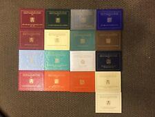 Citta' del Vaticano 2 Euro Commemorativi dal 2004 al 2020 FDC