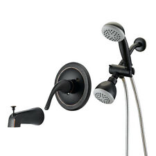 Designers Impressions Oil Rubbed Bronze 1 Handle Tub/Shower Combo Faucet #654708