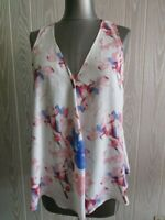 Vince Camuto white floral print blouse size medium