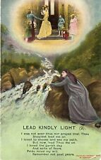 Lead Kindly Light (2) - Bamforth Song Card - 1909 Original Postcard (LA)