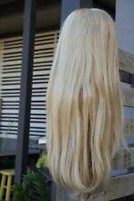 BEAUTIFUL BLONDE LONG HUMAN HAIR MONO WIG - Elegante Collection HM-Showgirl