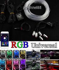6M Mutli-Color RGB LED Car Interior Neon EL Strip Light Glow Atmosphere Lamp APP