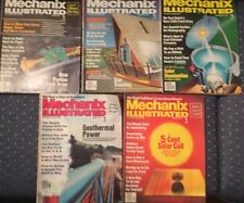 Lot of 5 1979 MECHANIX ILLUSTRATED magazines Solar, Oil, Cars Motorcycle, RVs.
