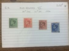4 Stamps King Edward Vlll 1936 Used British