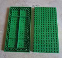 Lego 700eD2 x2 Brick Green Brique épaisse vert 10x20 Building Set MOC