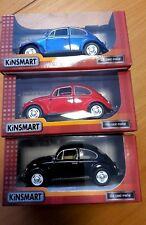 Set of 3 Kinsmart 1967 Volkswagen Classic Beetles 1/24
