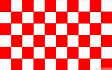 RED AND & WHITE CHECKERED CHECK FLAG 3X2 feet 90cm x 60cm FLAGS SPORT
