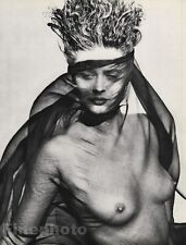1984 Vintage 11x14 FEMALE NUDE Consuelo Hair Fashion Model Photo Art HERB RITTS