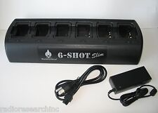 Gang 6 Unit Bank Charger for Motorola MagOne BPR40 BC130 A8 Battery PMNN4071AR