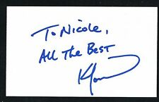 Ken Morrow signed autograph auto 3x5 index card 1980 Us Olympic Hockey Team