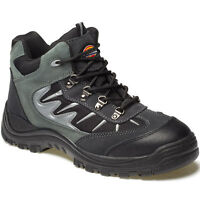 MENS DICKIES STORM SAFETY WORK BOOTS SIZE UK 4 - 12 STEEL TOE CAP GREY FA23385A