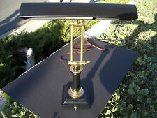 HOUSE OF TROY DESK / PIANO LAMP, BLACK WITH POLISHED BRASS ACCENTS P14-233-617