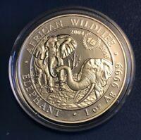 2018 Somalia 1 Oz Silver Elephant 15th Anniversary Jubilee Coin - BU In Capsule