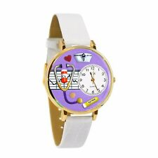 PERSONALIZED NURSE PURPLE UNISEX GOLD  WATCH FREE ENGRAVING UNISEX