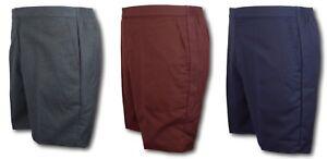 School Uniform Flat Front Short Trousers - David Luke - Grey Navy Brown Shorts