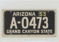 1953 Topps License Plates #3 Arizona Non-Sports Card 0p6