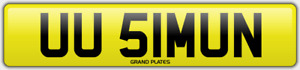 SIMON SI NUMBER PLATE UU51 MUN CHERISHED CAR REGISTRATION NO ADDED FEES SIMONS
