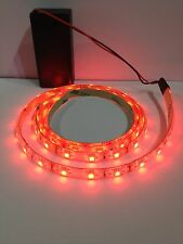 Costume Lighting Red Led Light, 9V Battery Operated 500mm Waterproof Strip.
